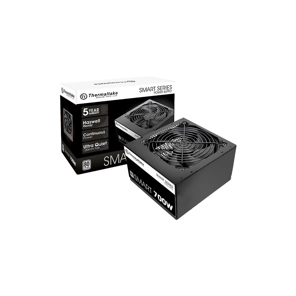 Fonte Thermaltake 700w Smart Series 80 Plus Pfc Ativo Atx