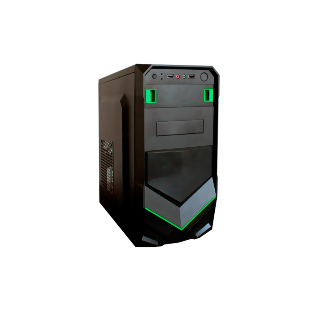 Gabinete Gamer BR-One P020 Green 2 Baias s/ Fonte