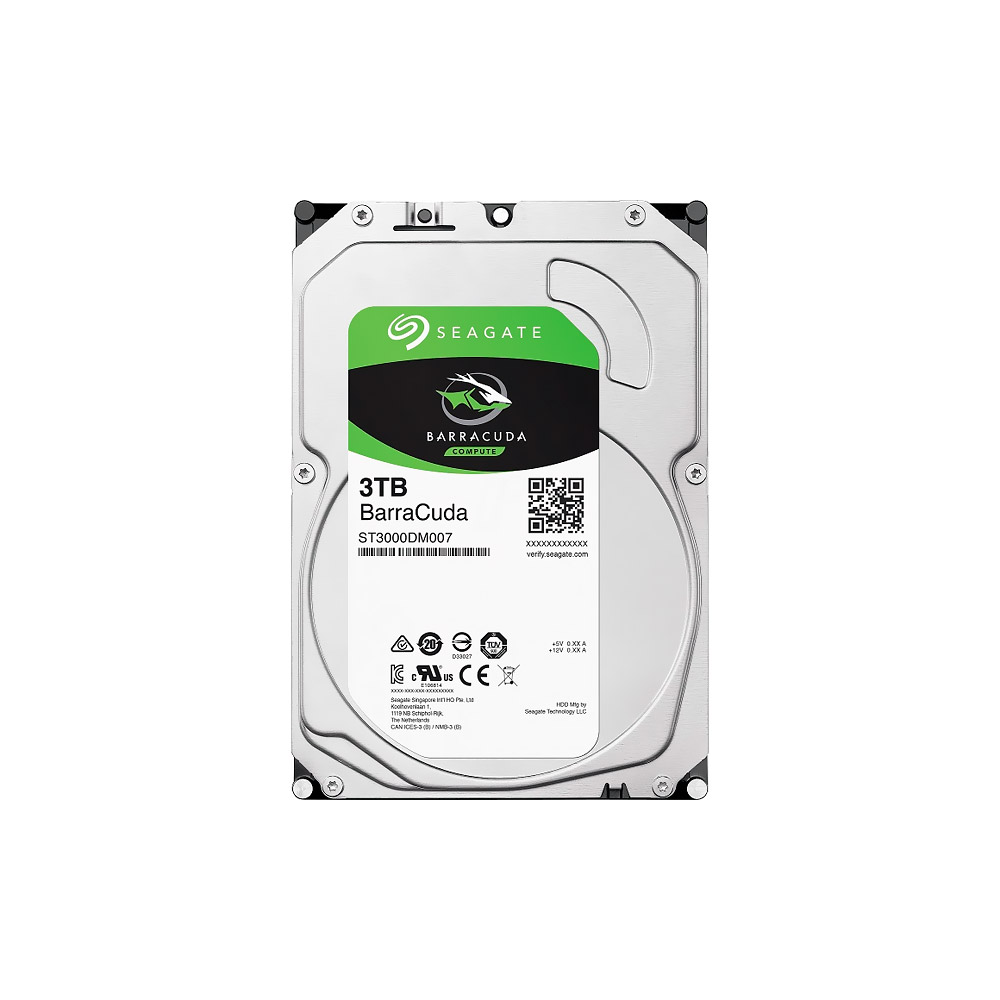 HD Seagate 3TB SATA III Barracuda 5400RPM 256MB