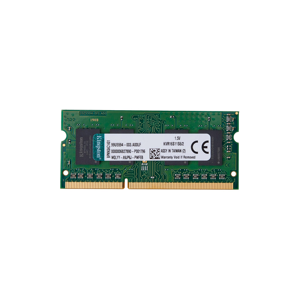 Memória Kingston 2GB DDR3 1600Mhz CL11 KVR16S11S6/2 p/notebook