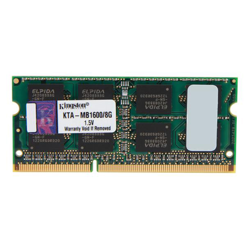 Memória Kingston 8GB DDR3 1600Mhz CL11 KTA-MB1600/8G p/Notebook Aple