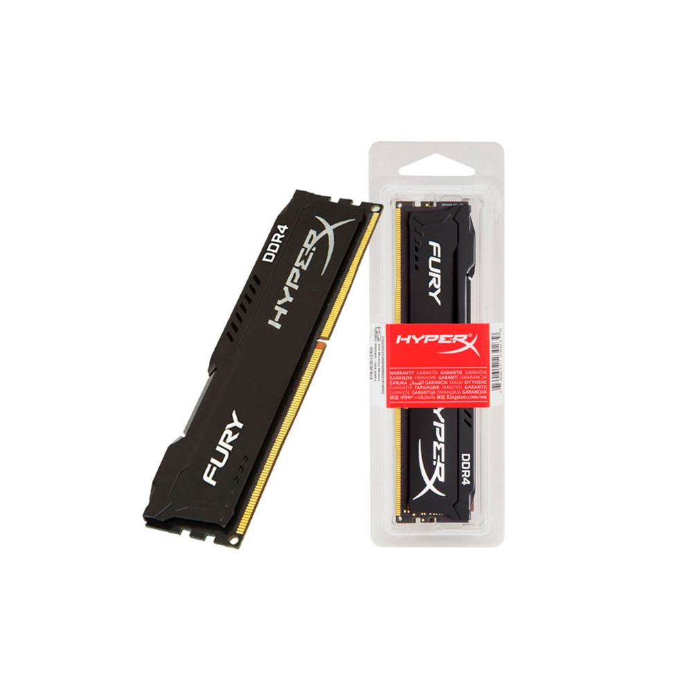 Memória Kingston HyperX 8GB DDR4 2400Mhz  Fury CL15 HX424C15FB2/8 Black
