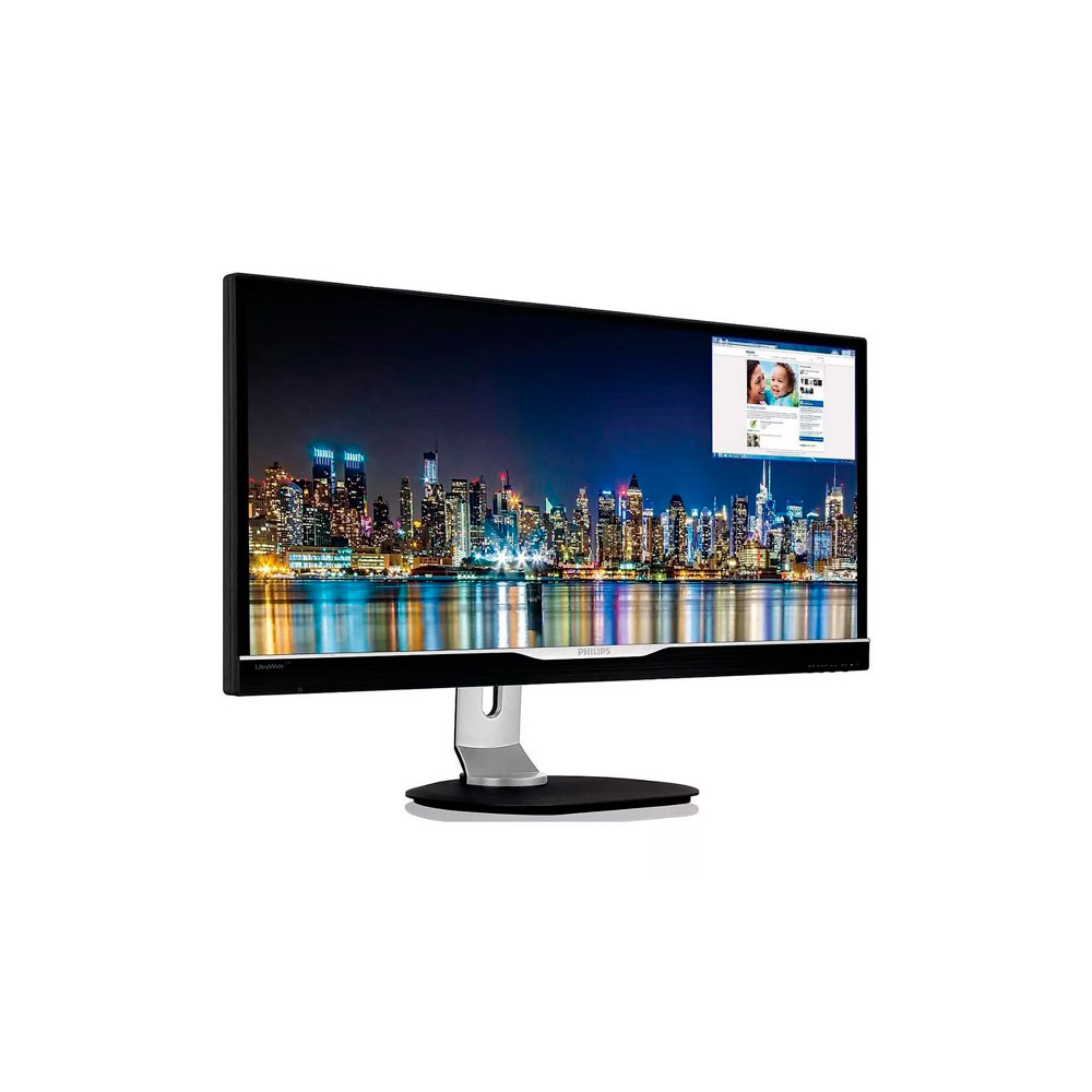 Monitor Philips 29 LED UltraWide 21:9 c/ Multiview  298P4QJEB