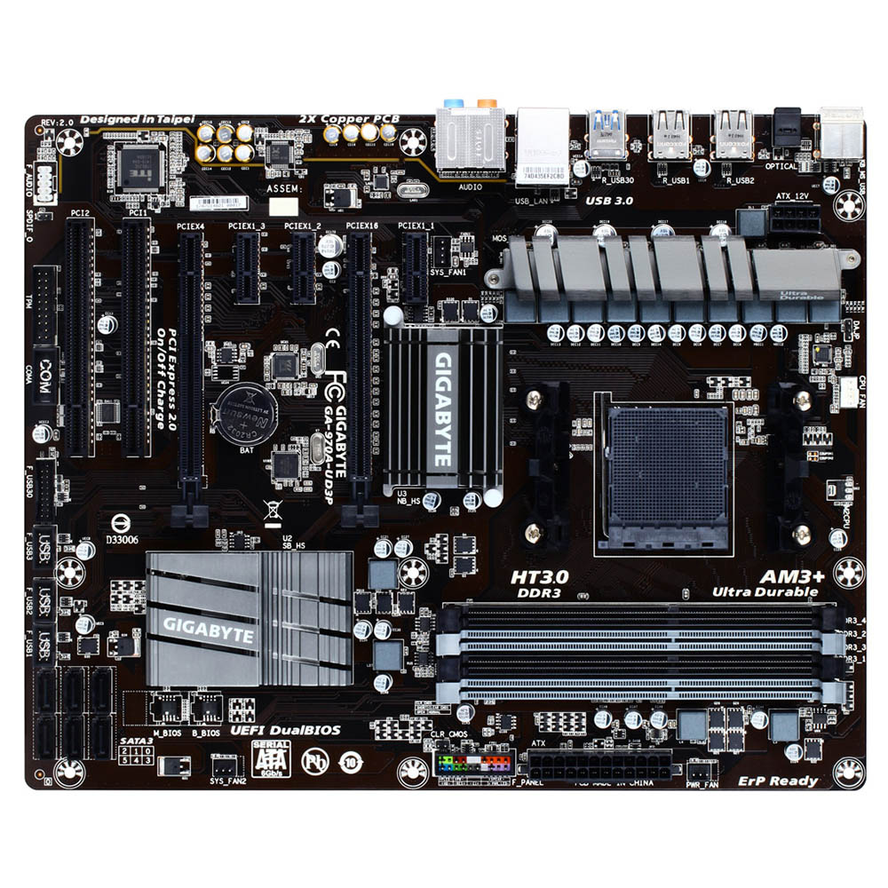 Mother Gigabyte GA-970A-UD3P DDR3  AMD AM3+