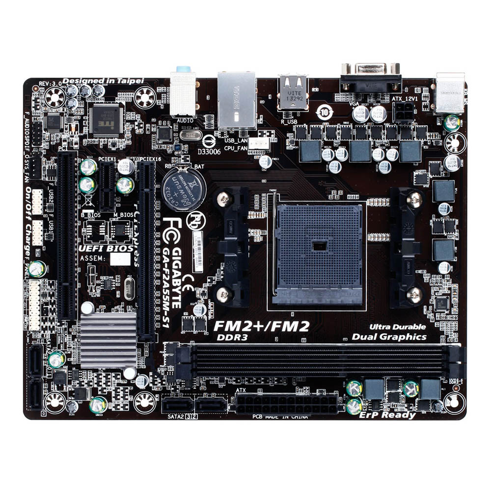 Mother Gigabyte GA-F2A55M-S1 DDR3 AMD FM2+/FM2 A