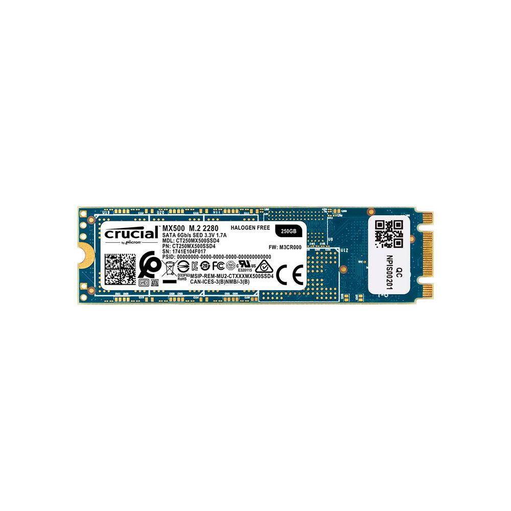 SSD M 2 250GB Crucial MX500 - CT250MX500SSD4 - Gibson