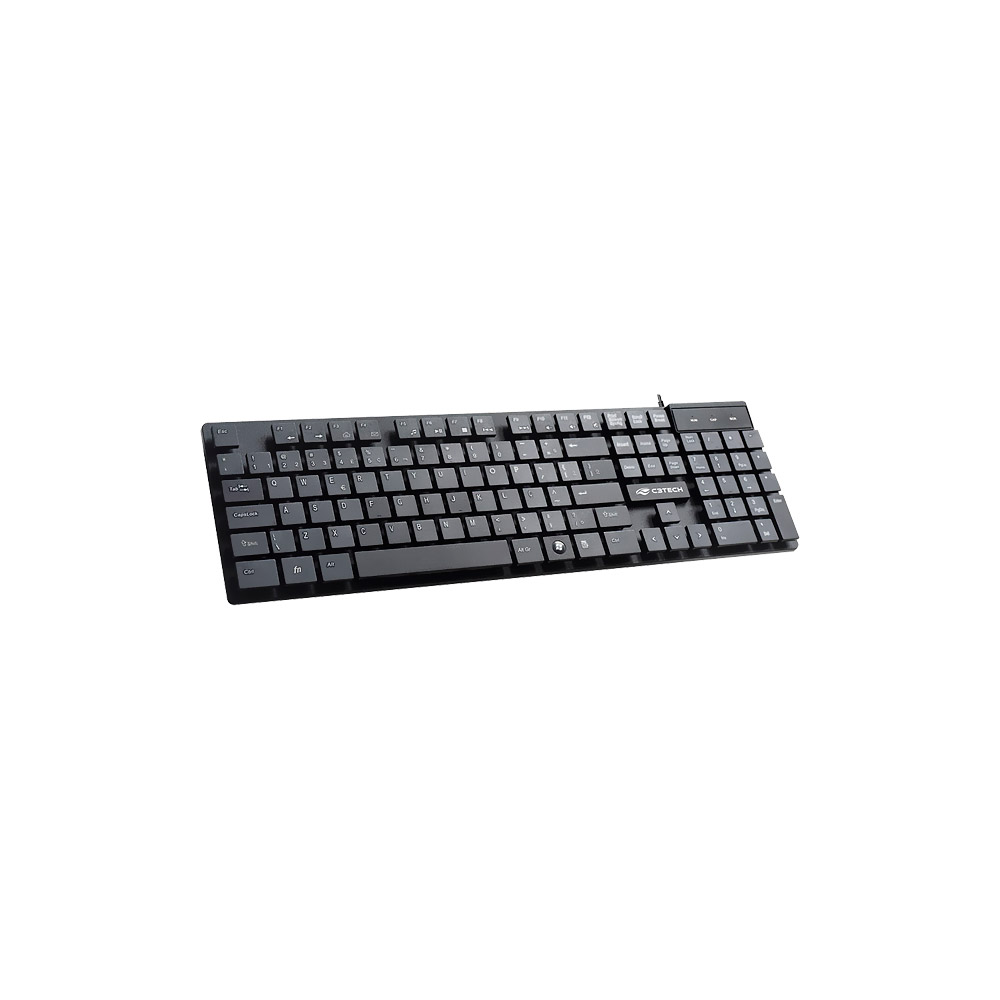 Teclado USB C3 Tech Multimídia Preto - KB-M50BK