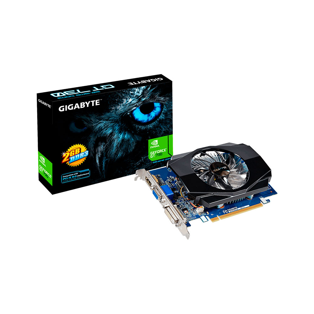 Placa de Video Gigabyte Nvidia GeForce GT730 2gb DDR3 - GV-N730D3-2GI