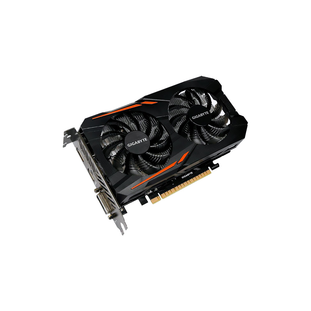 Placa De Vídeo Gigabyte GeForce Gtx 1050 TI 4gb OC Windforce 2x - GV-N105TOC-4GD