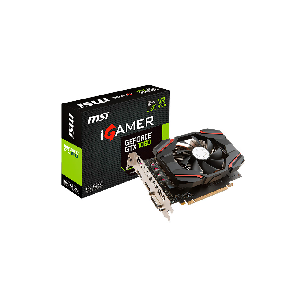 VGA GeForce 6GB GTX 1060 MSI IGamer GDDR5 912-V809-2463