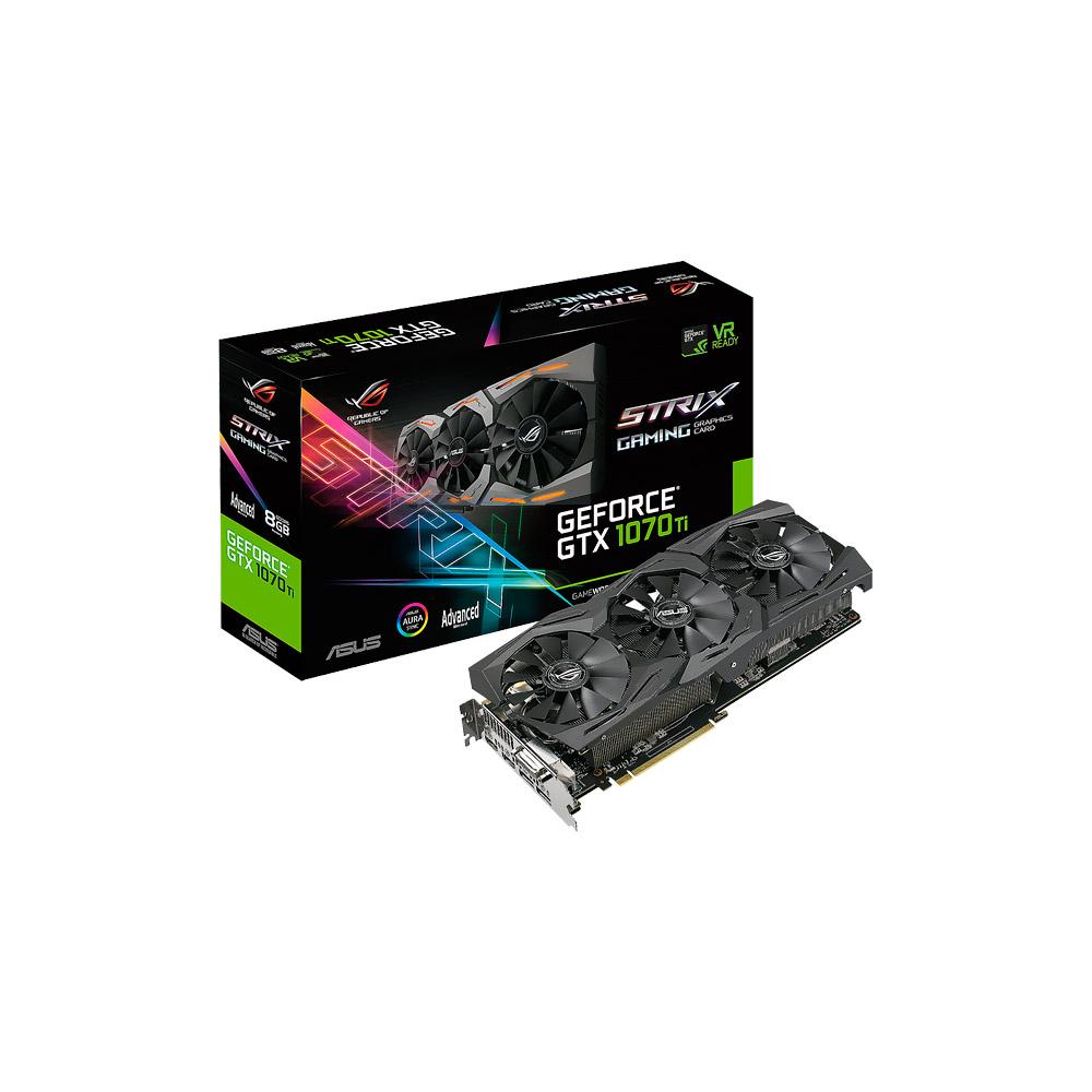 Placa de Vídeo VGA NVIDIA ASUS GEFORCE GTX 1070 Overclock