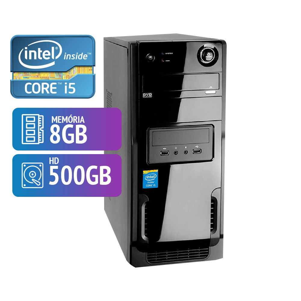 Computador Hawkeye Intel Core I5 8GB HD 500GB