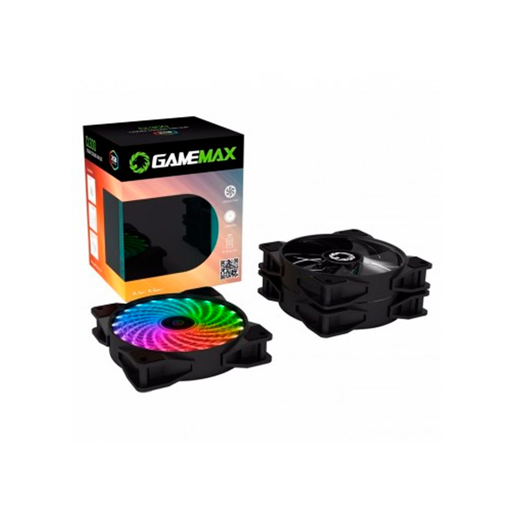Cooler Gamemax RGB com Controle CL300 Kit com 3 Fans 120MM