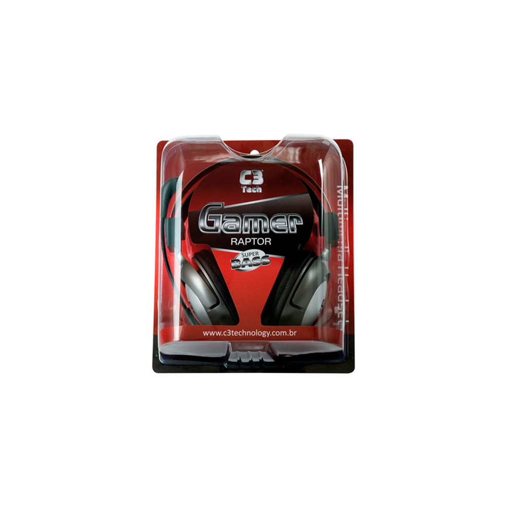 Headset C3 Tech Com Microfone Gamer Raptor MI-2870RS
