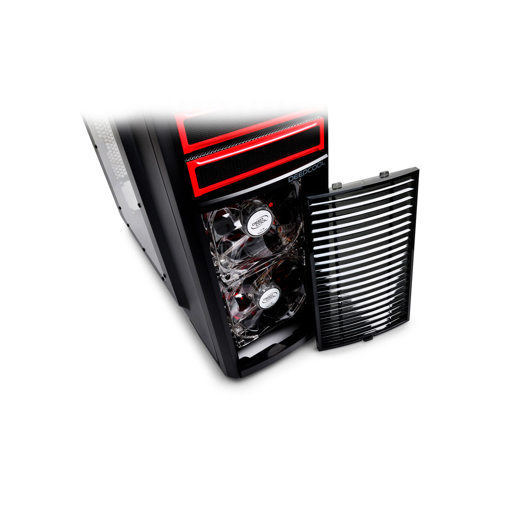 Gabinete Gamer DeepCool Kendomen Red ATX - KDM5FBKRD