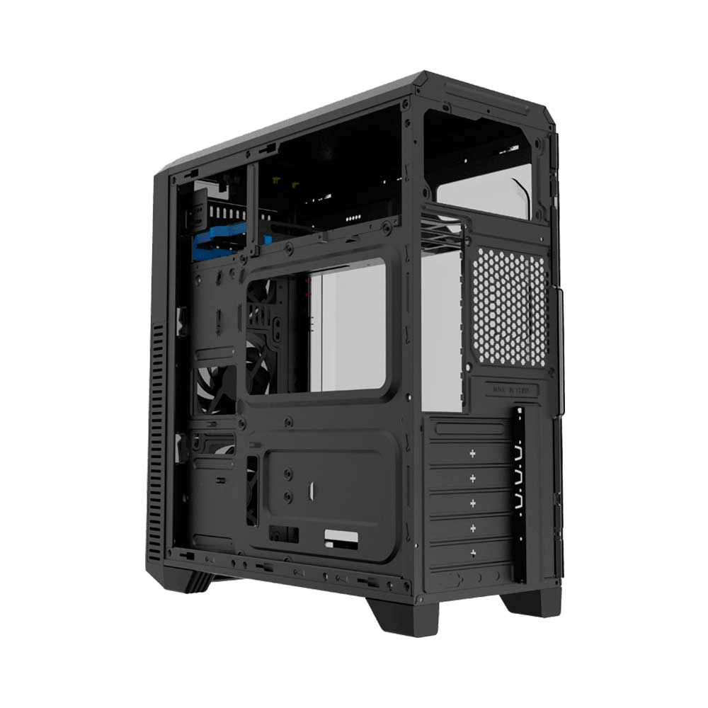 Gabinete Gamer Gamemax Wave G562W  Mid Tower 3 Fans Led Azul  Lateral Acrilico