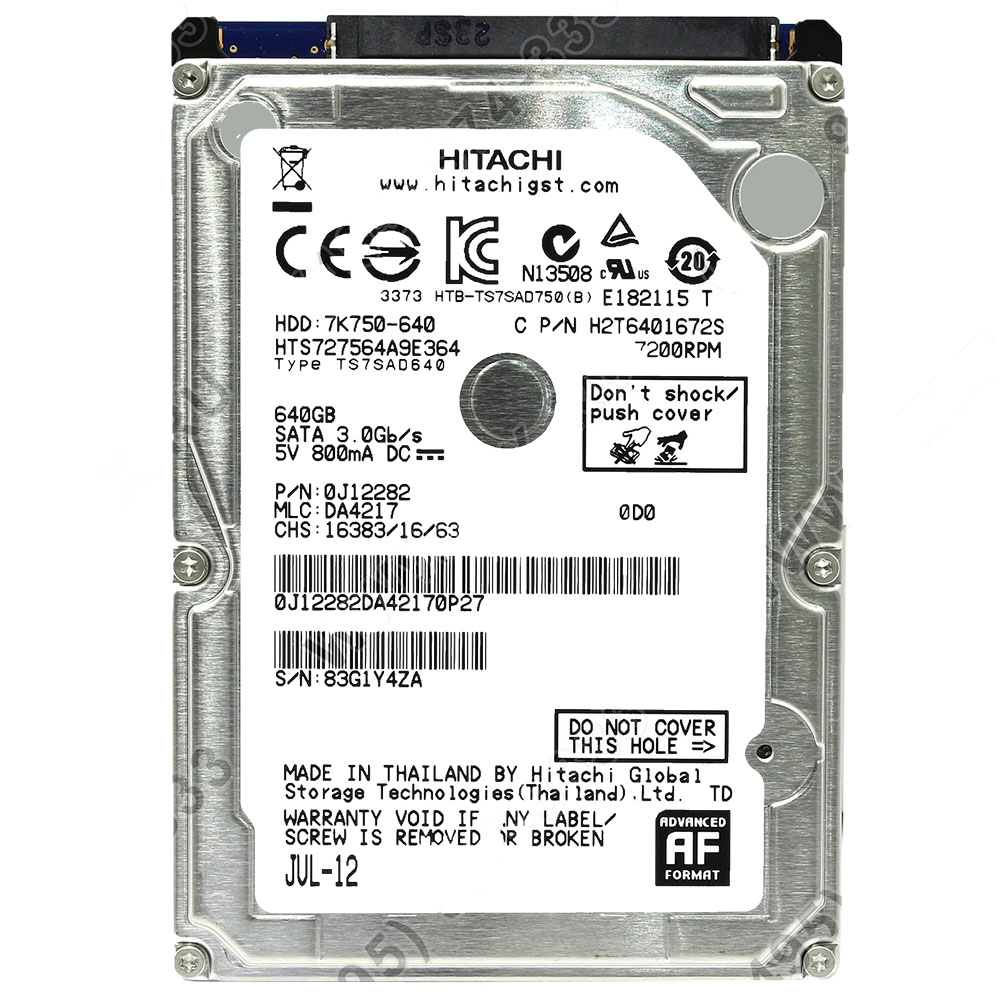 HD 640GB SATA III p/Notebook Hitachi 7K750-640 7200RPM