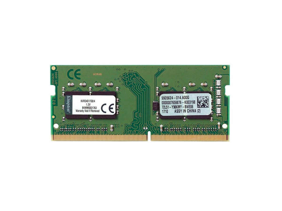 Memória Kingston 4GB 2400Mhz DDR4 p/ Notebook CL17 - KVR24S17S8/4