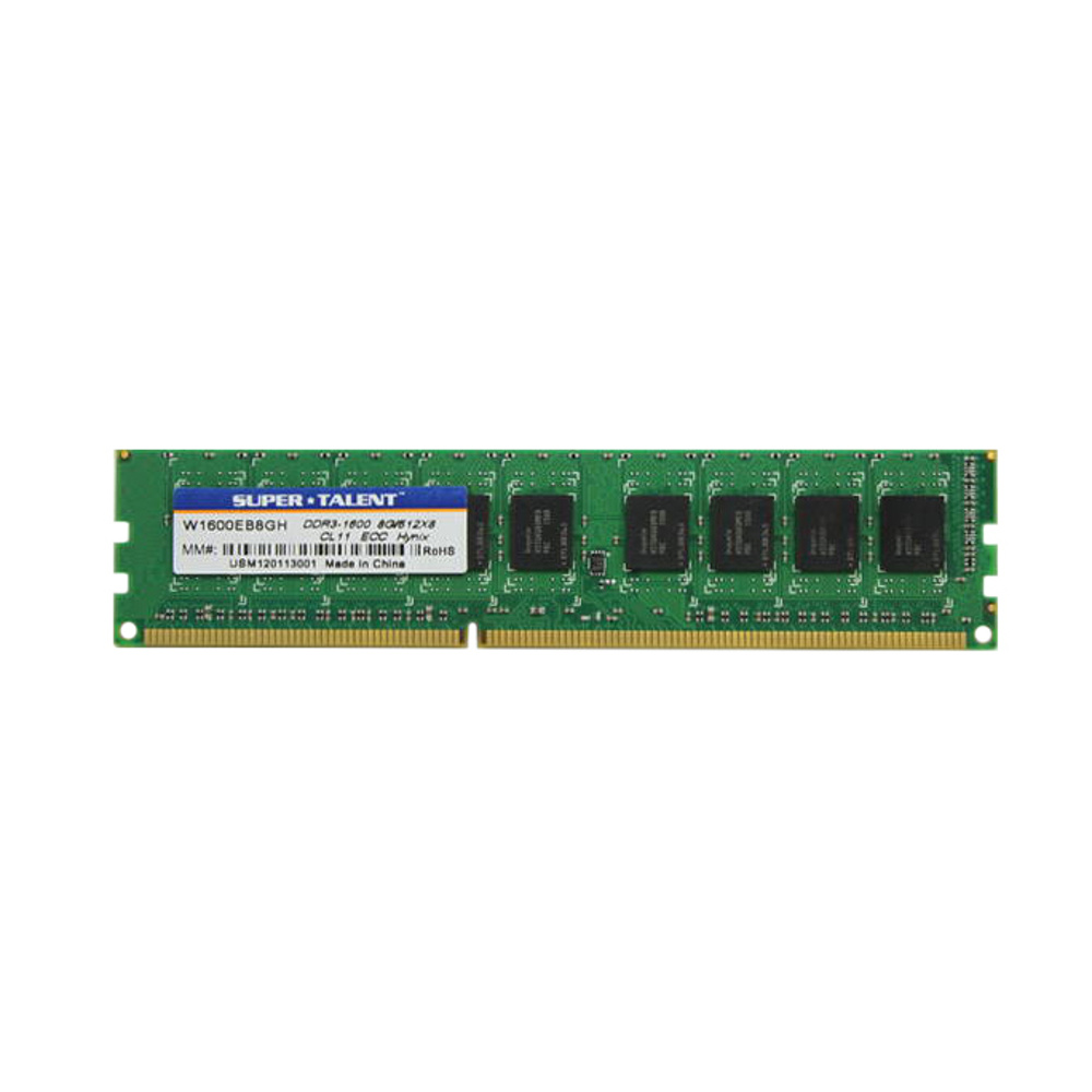 Memória Super Talent 8GB DDR3 1600Mhz ECC W1600EB8GH