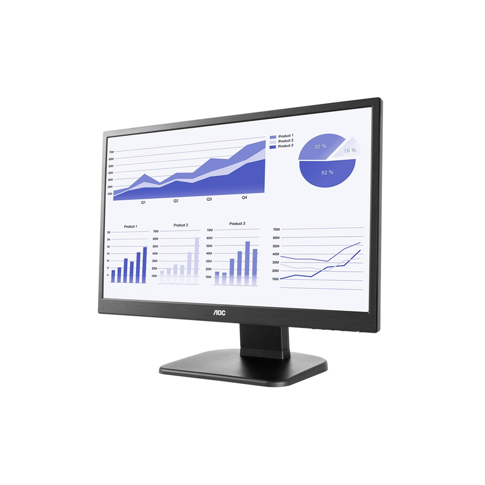 MONITOR AOC 21.5 POL. LED 5MS FULL HD WIDESCREEN, E2270PWHE Pivotante