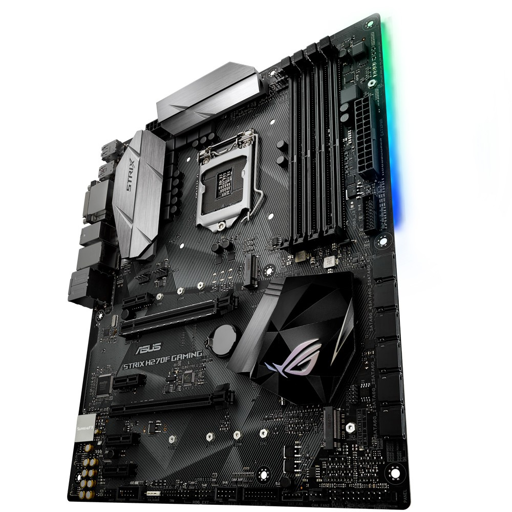 Mother Asus Rog STRIX H270F Gaming, DDR4 Aura Sync, Audio Gamer