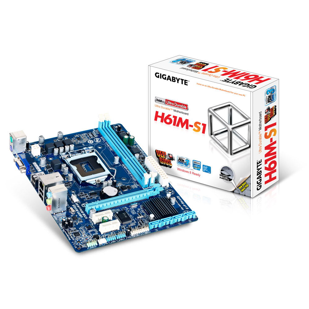 Mother Gigabyte GA-H61M-S1 BOX  DDR3 LGA 1155