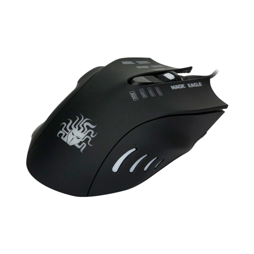 Mouse Gamer Nemesis Black Palm Grip Led 2400DPI - 015-0039