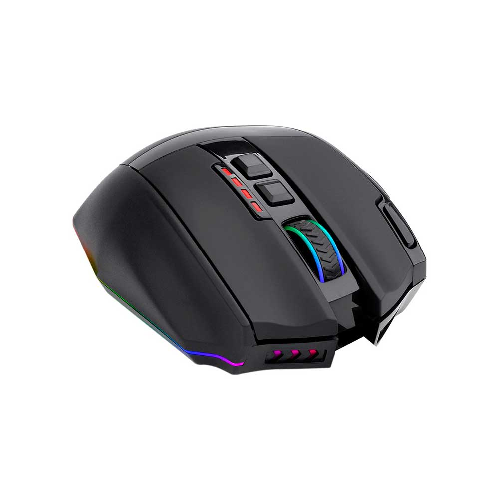 Mouse Gamer Redragon Sniper Pro M801P RGB 16000 DPI, Wireless, 9 Botões Programáveis, Black