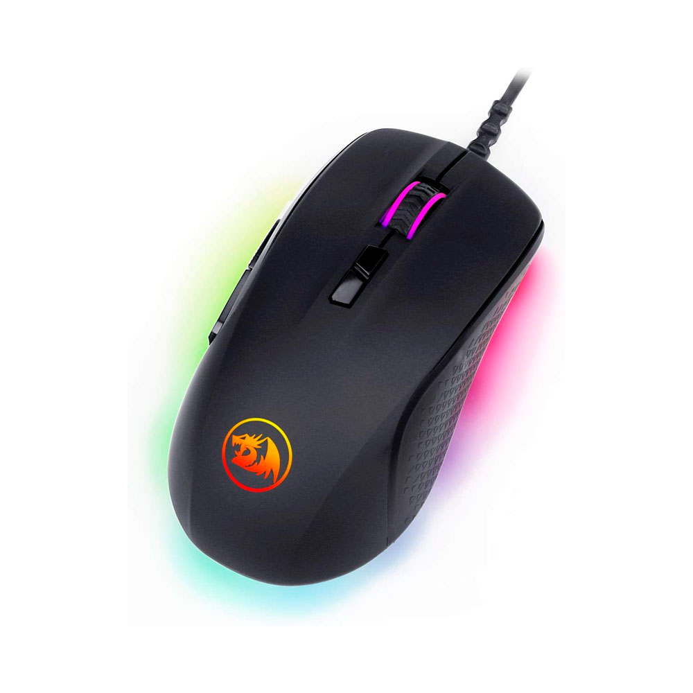 Mouse Gamer Redragon Stormrage Black M718 RGB 10000 DPI