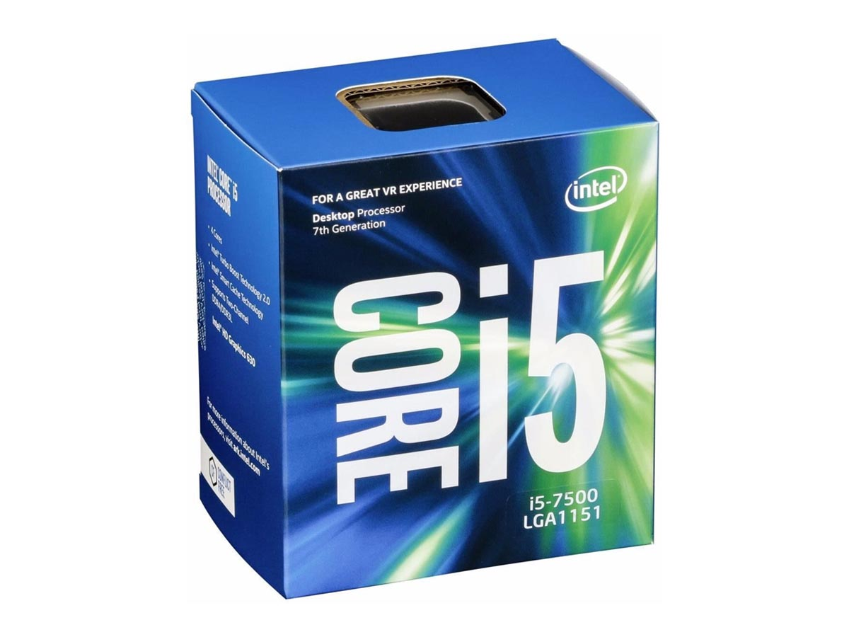 Processador Intel Core i5-7500 Kaby Lake 7a Geração, Cache 6MB, 3.4GHz (3.8GHz Max Turbo), LGA 1151 Intel HD Graphics BX80677I57500