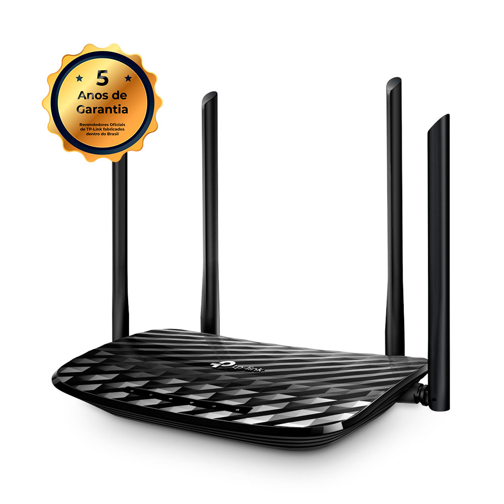 Roteador Wireless Tp-Link Archer C6 AC 1200 Gigabit Todas as Portas Dual Band 4 Antenas 5dBi