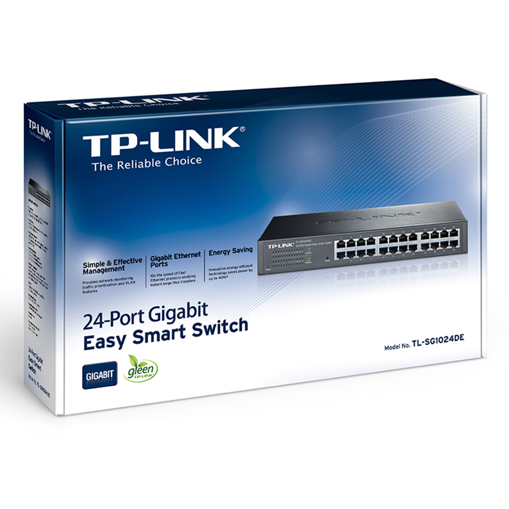 Switch TP-Link 24pt TL-SG1024DE Gigabit Easy Smart