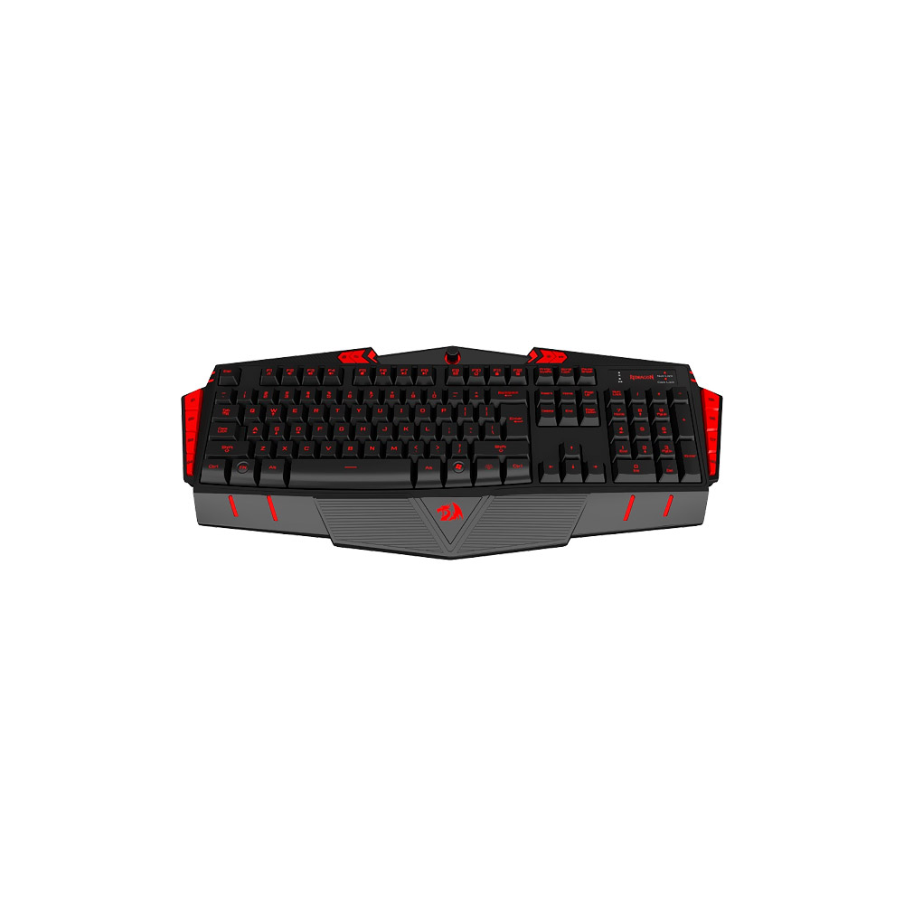Teclado Gamer Multimídia Redragon Asura c/ LED alterável K501 preto