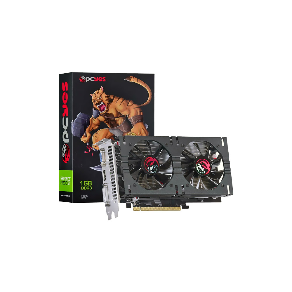 VGA GeForce 1GB 9800GT DDR3 256b Dual-Fan N98T1GD3256DF PcYes