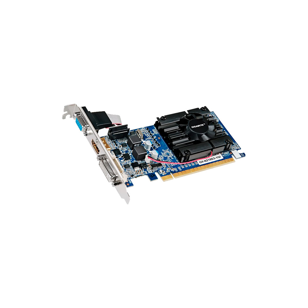 VGA GeForce 1GB GT210 Gigabyte DDR3 Low Profile  GV-N210D3-1GI