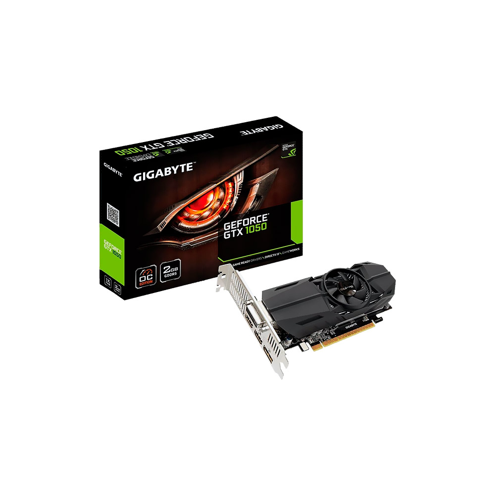VGA GeForce 2GB GTX 1050 OC 128Bits DDR5 Low Profile GV-N1050OC-2GL